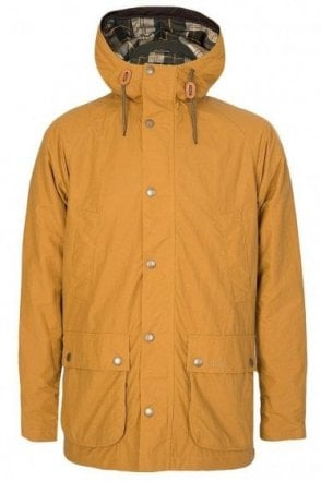 Barbour Hooded Bedale Jacket Mustard