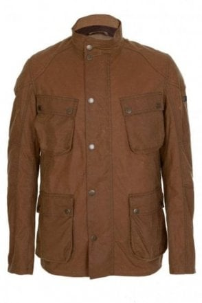 Barbour International Crank Wax Jacket Tan