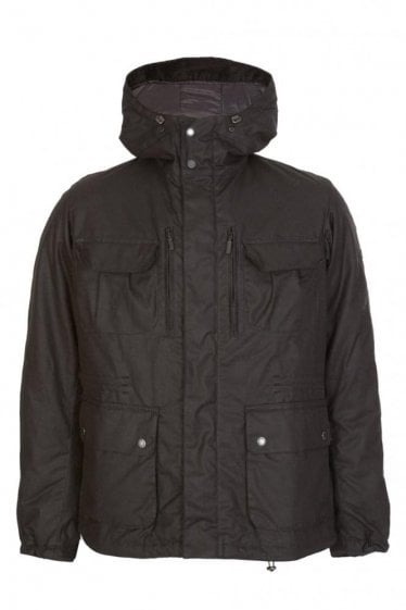 Barbour International Delta Wax Jacket Black