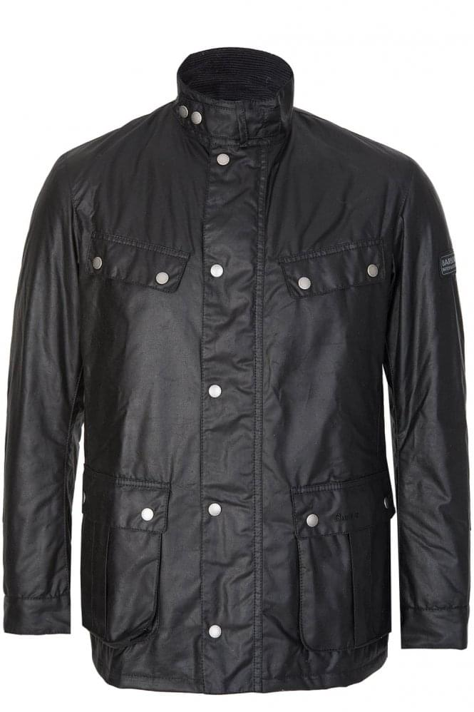 BARBOUR International Duke Wax Coat Black