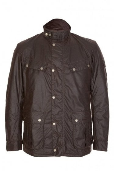 Barbour International Duke Wax Jacket Brown