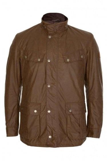 Barbour International Duke Wax Jacket Tan