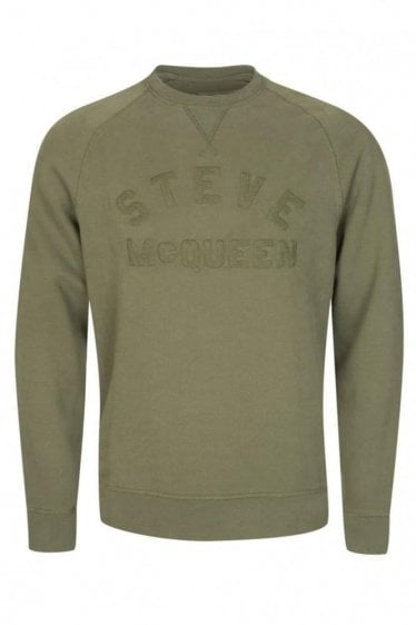 Barbour International Embroidered Chest Detail Crew Neck Sweatshirt Green
