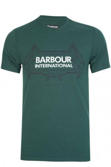 Barbour International Flags T-Shirt Green