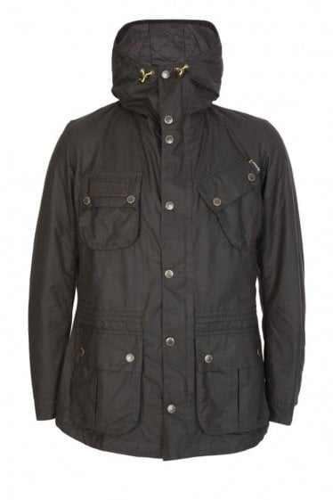 Barbour International Fog Parka Jacket Black