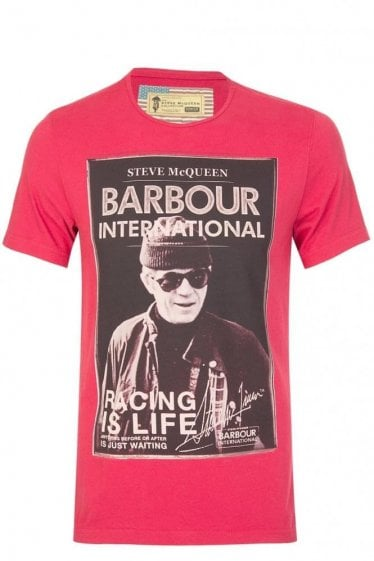 Barbour International Racing Tshirt Red