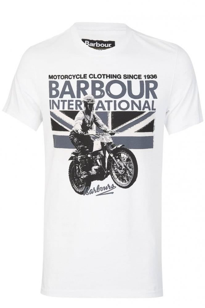 BARBOUR International Rider Tshirt White