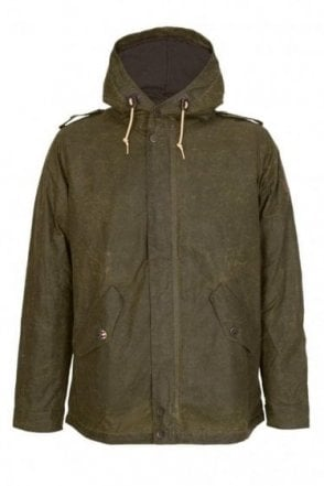 Barbour International Steve McQueen Shell Wax Parka Olive