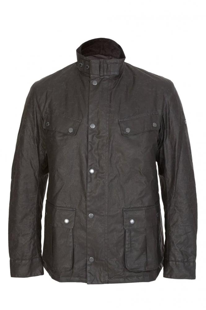 BARBOUR International Winter Duke Wax Jacket Black