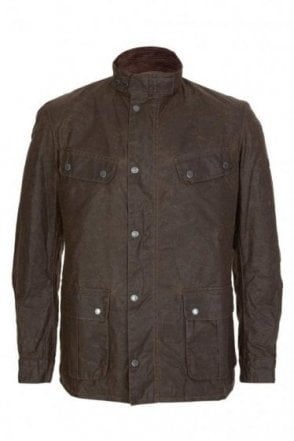 Barbour International Winter Duke Wax Jacket Brown