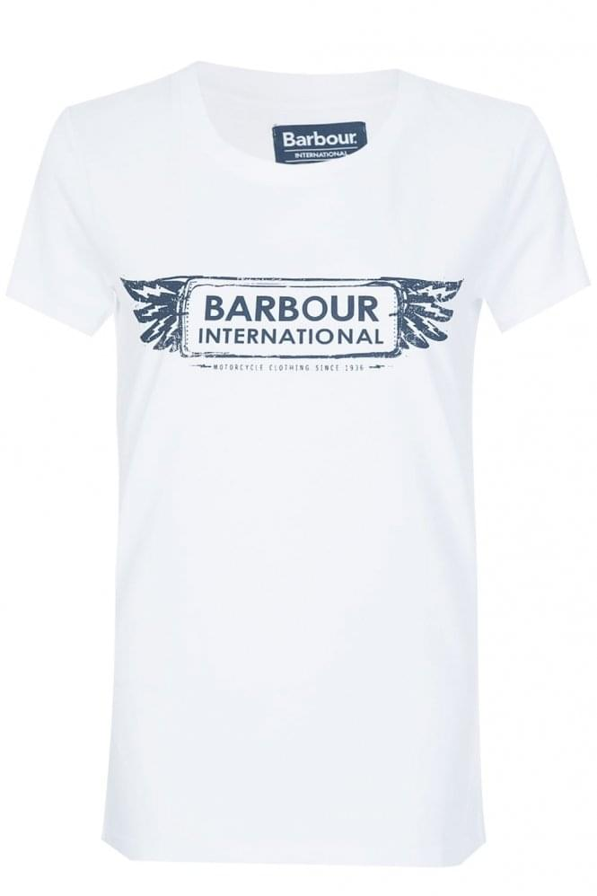 BARBOUR International Women's Cable T-Shirt White