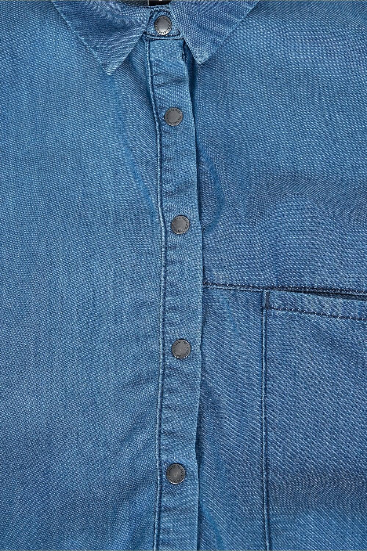 Barbour international women 39 s chambray denim fairing dress for Chambray jeans