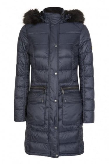 Barbour International Women's Dunnet Quilt Jacket Navy