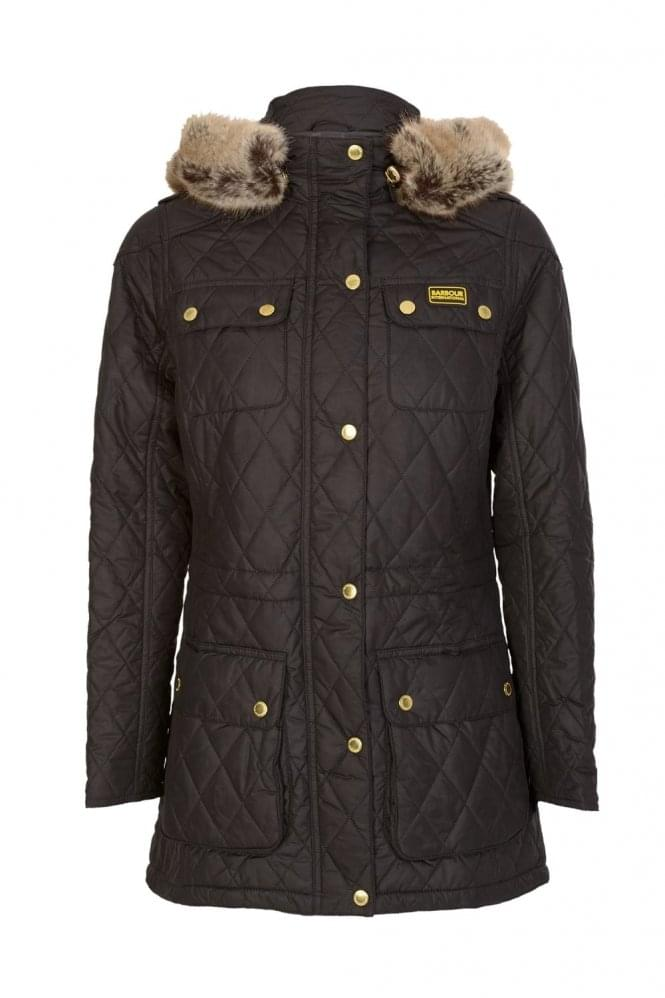 BARBOUR International Women's Enduro Quilted Jacket Black