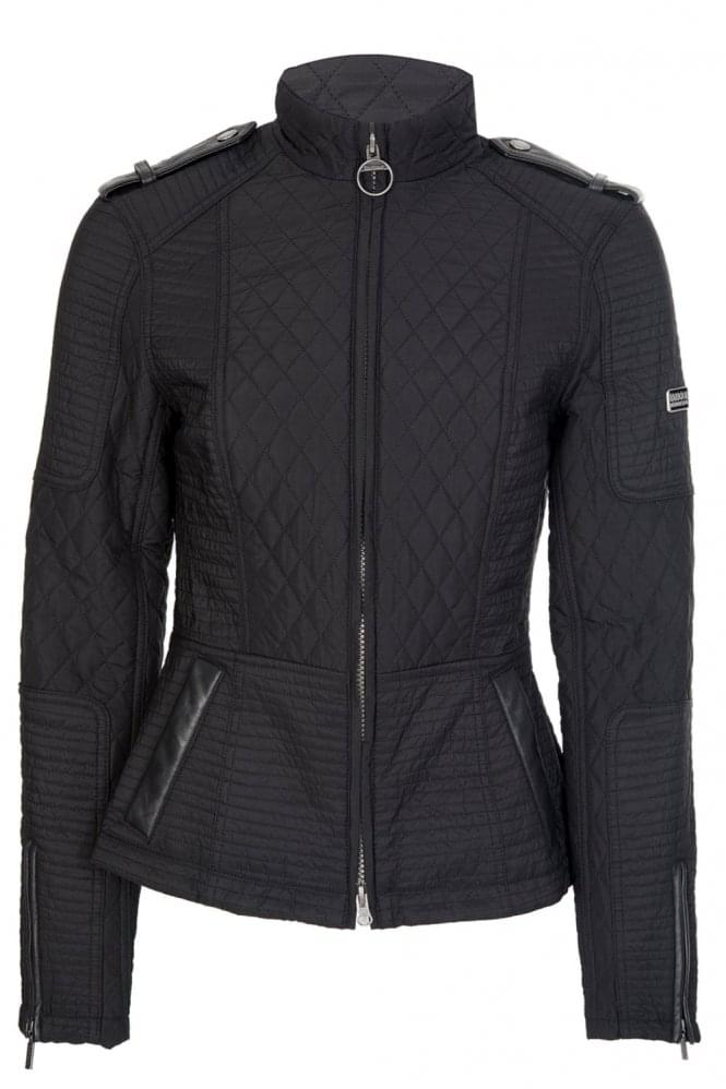 BARBOUR International Women's Folco Extractor Quilt Jacket Black