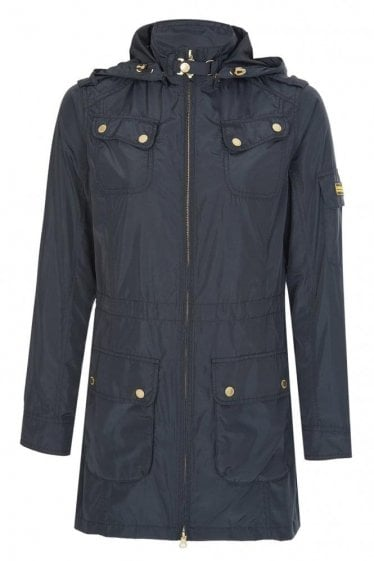 Barbour International Women's Rearset Casual Parka Black