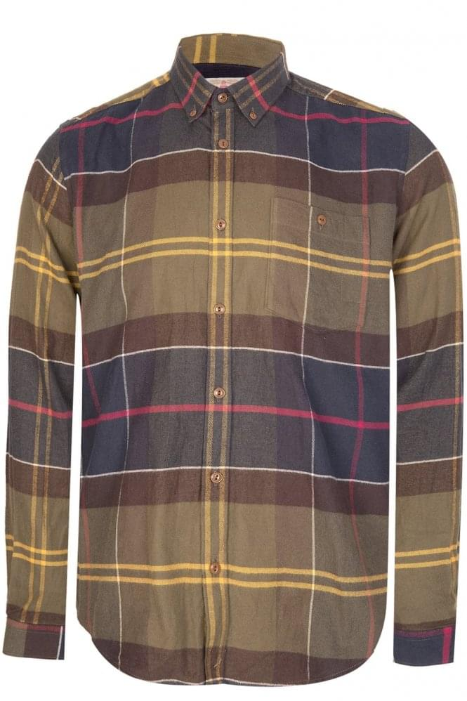 BARBOUR Johnny Check Shirt Green