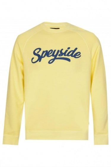 Barbour Mens Cleave Crew Neck Jumper Yellow