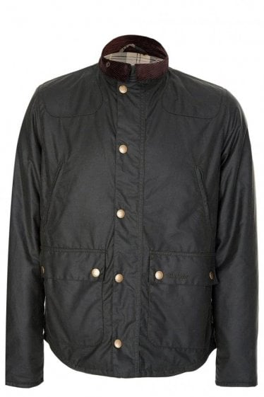 Barbour Reelin Wax Jacket Olive