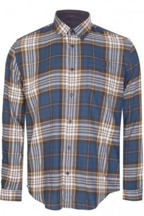 Barbour Sea Mill Check Shirt Blue
