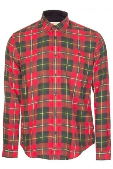 Barbour Sea Mill Check Shirt Red