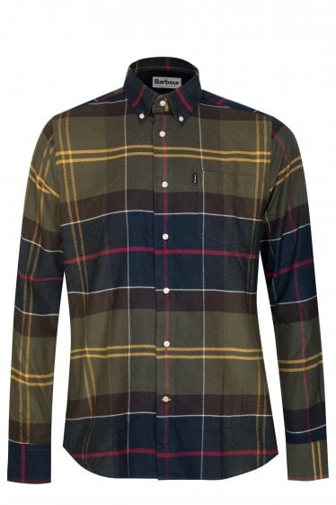 Barbour Stapleton John Tartan Shirt Green