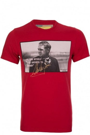 Barbour 'Tanner' Quote Tshirt Red