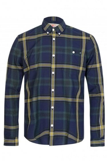 Barbour Template Shirt Navy