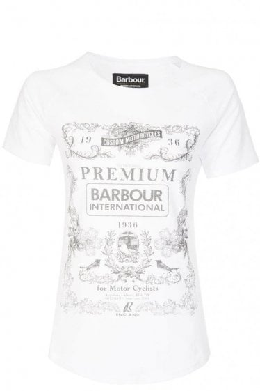 Barbour Womens Charade T-Shirt White