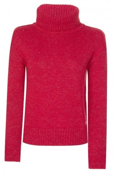 Barbour Womens Endo Knit Jumper Red