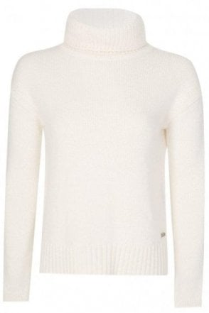 Barbour Womens Endo Knit Jumper White
