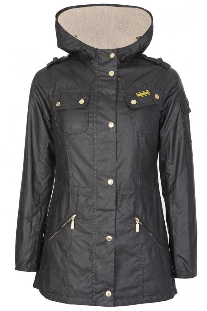 BARBOUR Women's Flywheel Parka Black