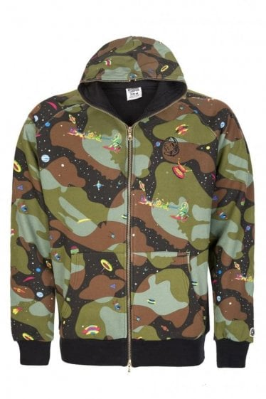 Billionaire Boys Club All Over Space Camo Print Hooded Top