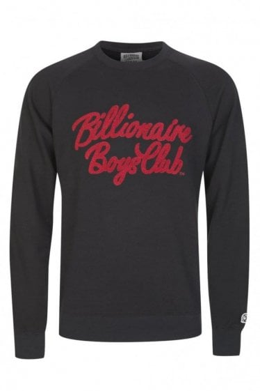 Billionaire Boys Club Chenille Script Sweatshirt Black