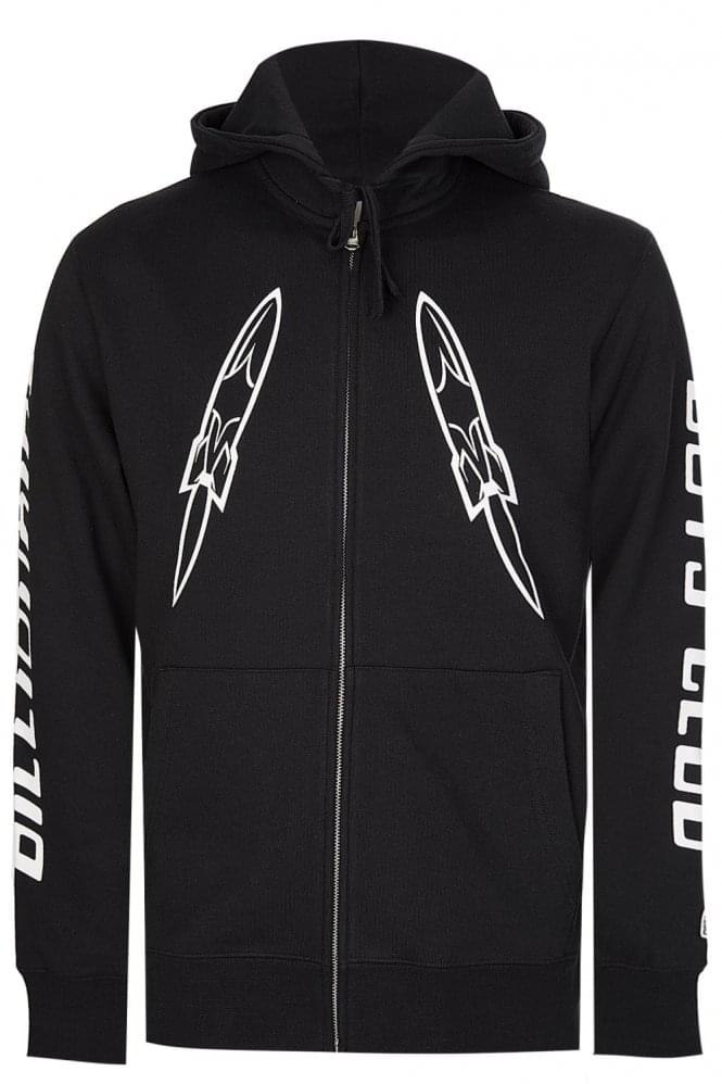 BILLIONAIRE BOYS CLUB Digital Zip Through Hooded Sweatshirt