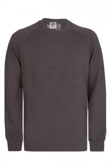 Billionaire Boys Club Embossed Helmet Sweatshirt Grey