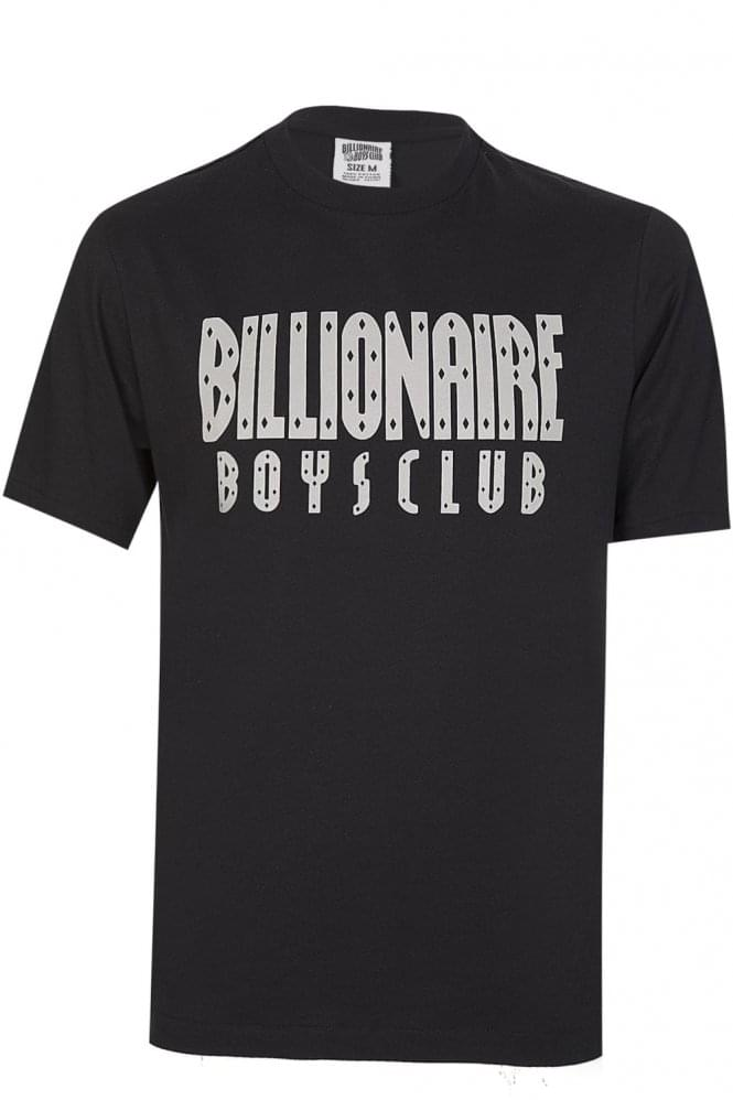 BILLIONAIRE BOYS CLUB Reflective Logo T-Shirt Black