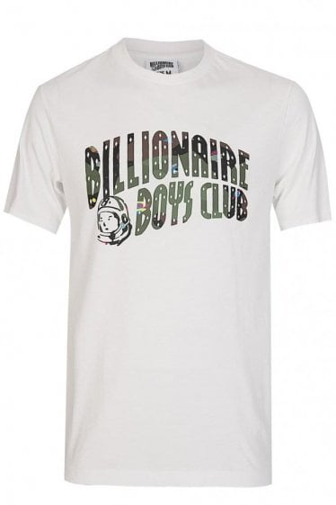 Billionaire Boys Club Space Camo Arch Logo T-Shirt White