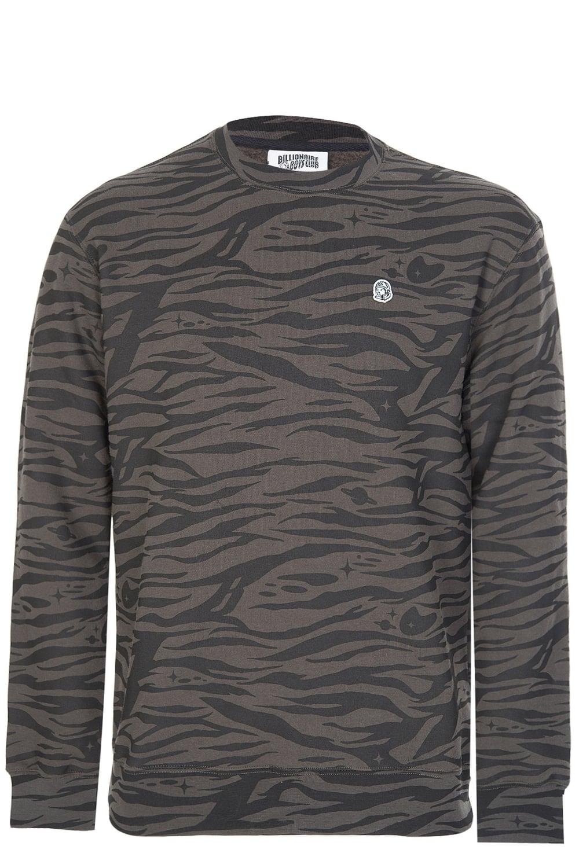 31d5cedb8ddb Billionaire Boys Club Zebra Camo Sweatshirt Charcoal