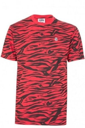 Billionaire Boys Club Zebra Camo T-Shirt Red