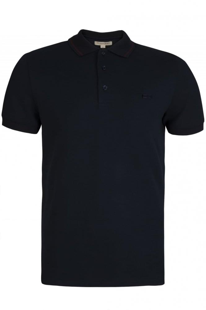 BURBERRY Atkins Stripe Collar Polo Navy