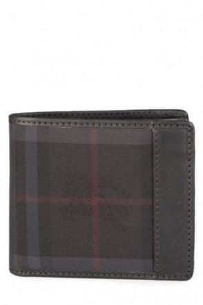 Burberry Billfold Check Wallet Black