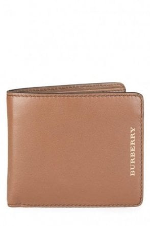 Burberry Billfold Leather Wallet Tan