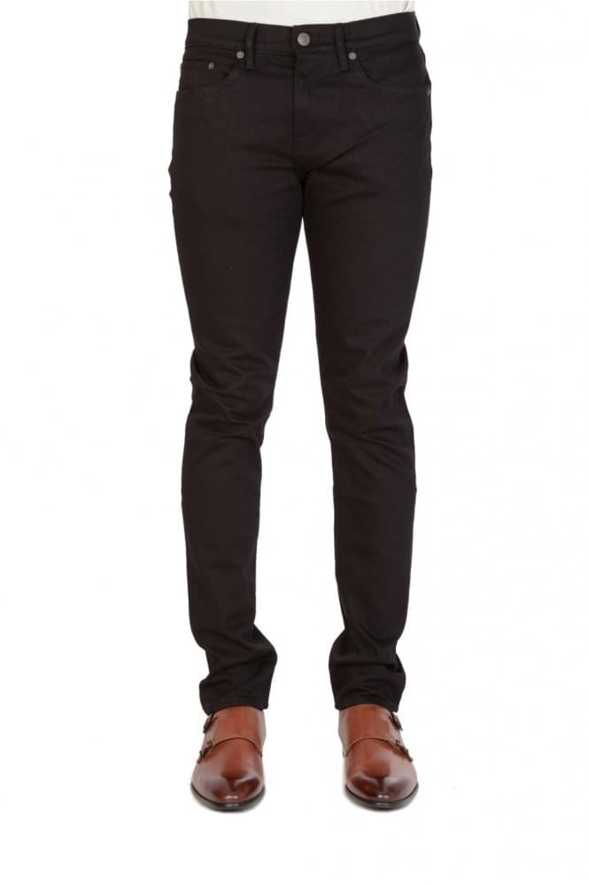 BURBERRY Brit Slim Fit Tapered Jeans Black