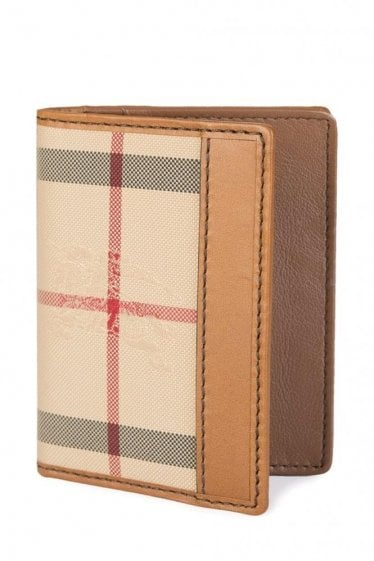 Burberry Check Wallet Tan