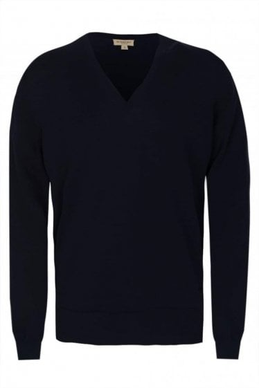 Burberry 'Elmbourne' Knitted Jumper Navy