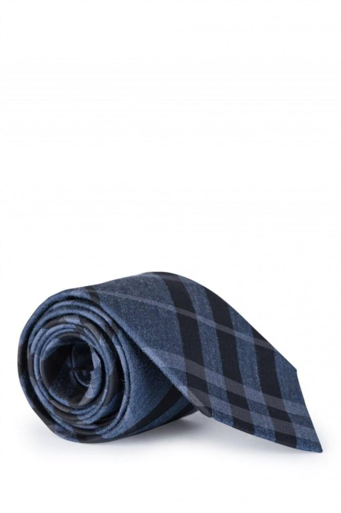 BURBERRY Manston Checked Tie Navy