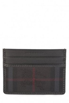 Burberry 'Sandon' Check Card Wallet Black