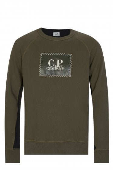 C.P Company Box Logo Sweat Khaki