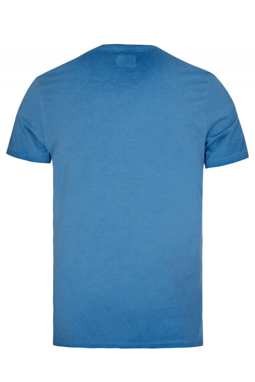 C P Company Box Logo T Shirt Blue